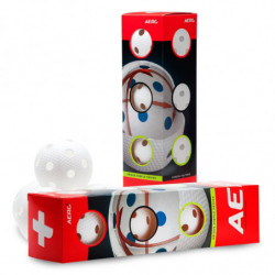 Aero plus floorball loptica 4-pack - bijela