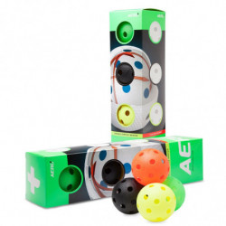 Aero plus floorball loptica 4-pack - barvni